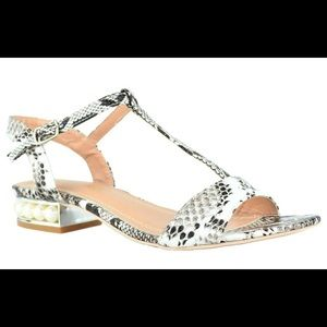 ⭐️ Women's Snake Ankle-Strap Pearly Flat